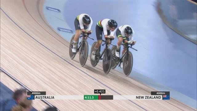 Pist bisikletinde pedallar bu kez Avustralya'da döndü