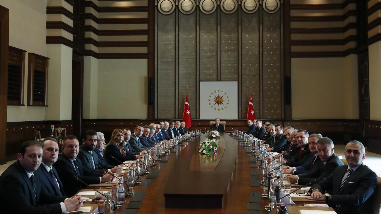Cumhurbaşkanı Erdoğan, Kulüpler Birliği'ni kabul etti