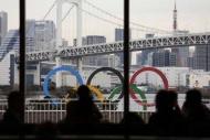 Tokyo'da olimpiyat halkalarına büyük ilgi