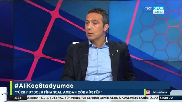 Ali Koç: Türk futbolu çökmüş vaziyette