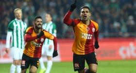Galatasaray Konya'da 3 puanı 3 golle aldı