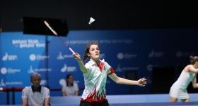 Milli badmintoncu çeyrek finalde elendi