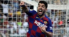 Barcelona'da Suarez sevinci