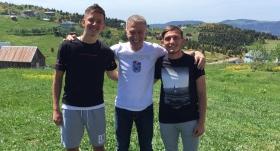 Ağaoğlu'ndan genç futbolculara ziyaret
