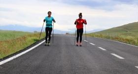 Kış Olimpiyatları için asfaltta ter döküyorlar