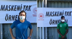 Bursaspor'dan 'Maskeni Tak, Örnek Ol' kampanyasına destek