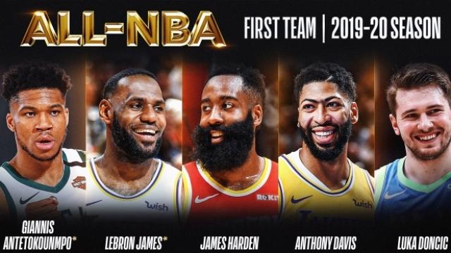 NBA'de yılın takımı belli oldu