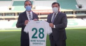 Bakan Kasapoğlu, Çotanak Spor Kompleksi'nde incelemelerde bulundu