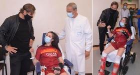Laziolu futbolcu, komadan Totti'nin sesiyle çıktı