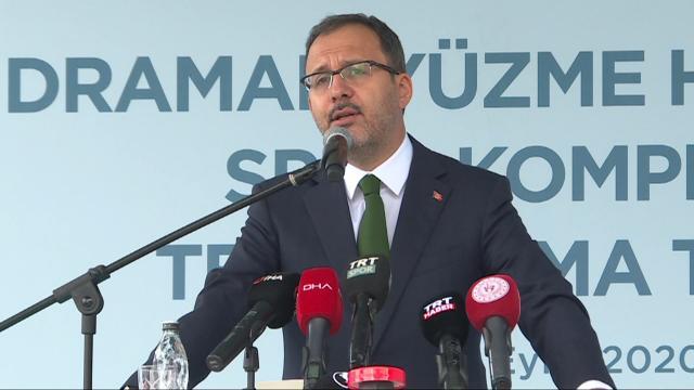 Bakan Kasapoğlu temel atma töreninde konuştu