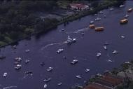Şampiyonluğu tekne konvoyuyla kutladılar