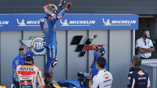 MotoGP'de zafer Alex Rins'in