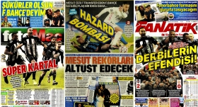 Manşetlerde derbi ve Mesut Özil var