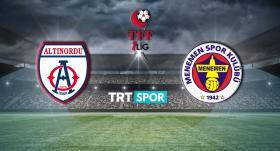 Altınordu-Menemenspor maçı TRT SPOR'da