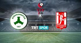 Giresunspor'un tarihi maçı TRT SPOR'da