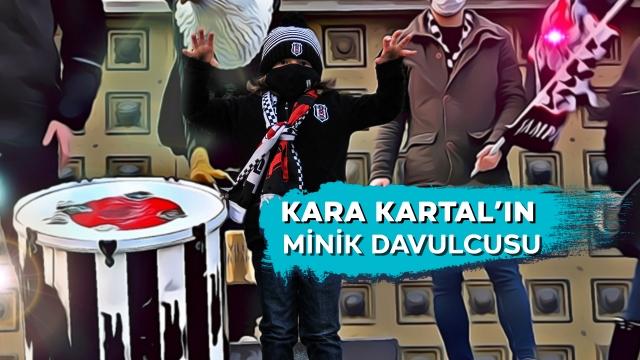 Kara Kartal'ın minik davulcusu
