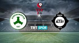 Giresunspor - Altay maçı TRT SPOR'da