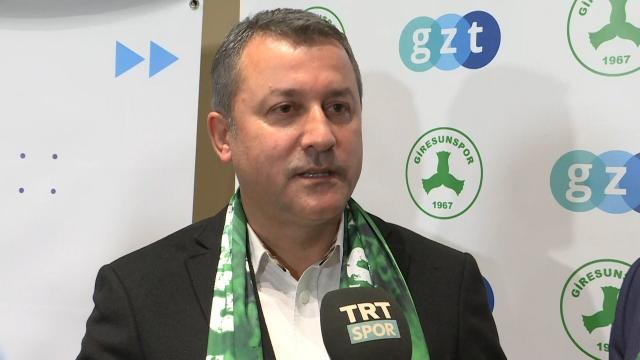 Giresunspor Başkanı Hakan Karaahmet TRT SPOR'a konuştu