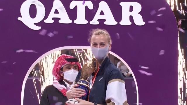 Katar Açık'ta şampiyon Kvitova