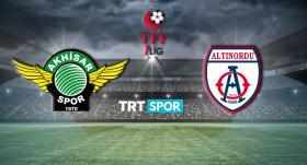 Akhisarspor-Altınordu maçı TRT SPOR'da