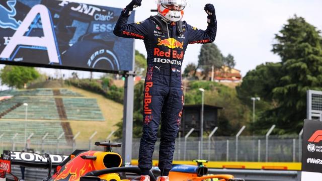 italya'da zafer Verstappen'in