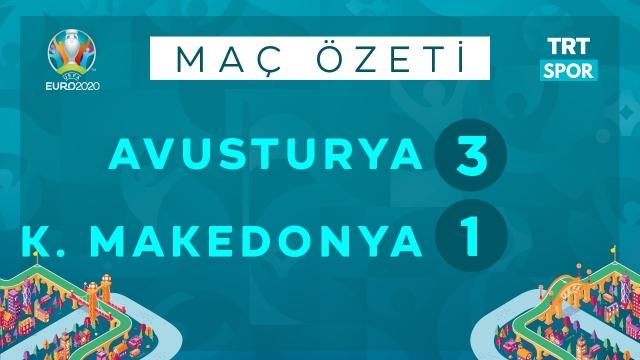 EURO 2020 | Avusturya - K.Makedonya (Özet)