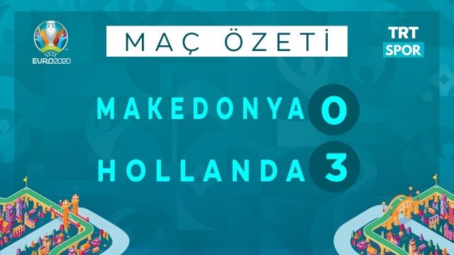 EURO 2020 | Makedonya - Hollanda (Özet)