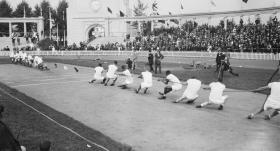 Bir zamanlar olimpiyatlar: Halat çekme