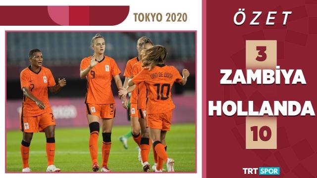 Tokyo 2020 Olimpiyatları | Zambiya - Hollanda (Özet)