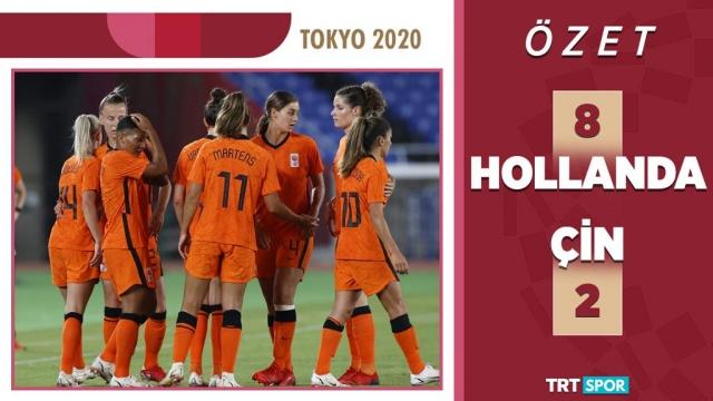 Tokyo 2020 Olimpiyatları | Hollanda - Çin | Kadınlar Futbol (Özet)
