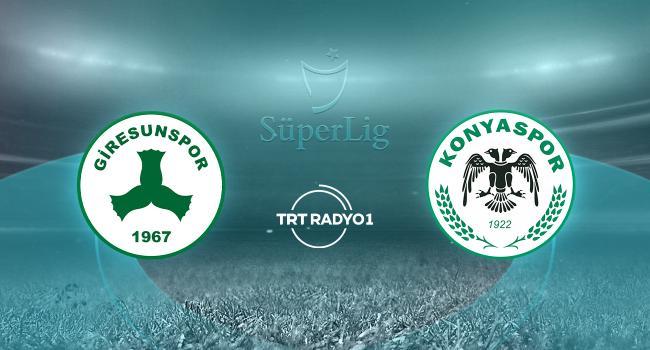 Giresunspor - Konyaspor - TRT Spor - Türkiye`nin güncel spor haber kaynağı