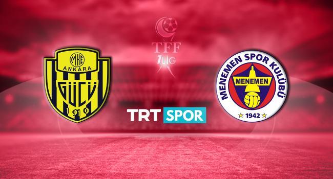 MKE Ankaragücü - Menemenspor maçı TRT SPOR'da - TRT Spor - Türkiye`nin güncel spor haber kaynağı