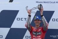 San Marino'da kazanan Bagnaia