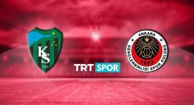 Kocaelispor-Gençlerbirliği maçı TRT SPOR'da