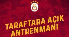 Galatasaray, idmanını taraftara açıyor
