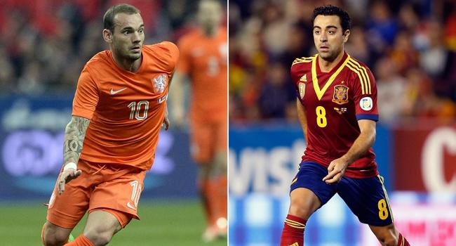 Devler çarpışıyor: Sneijder, Xavi'ye karşı