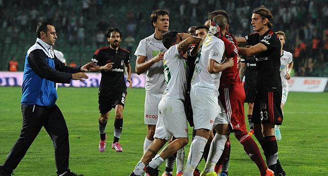 Bursa'da maç sonrası büyük gerginlik