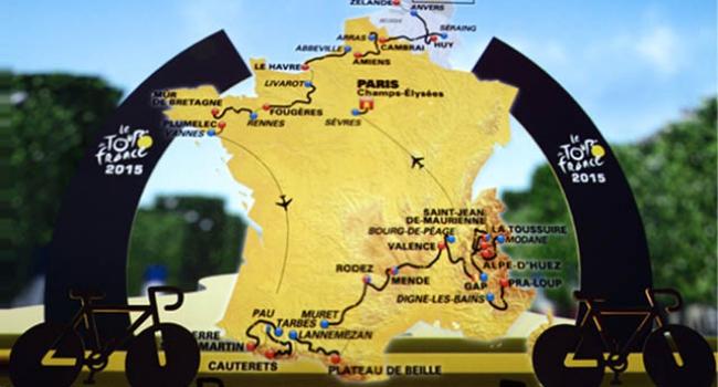 İşte Fransa Bisiklet Turu'nun güzergahı