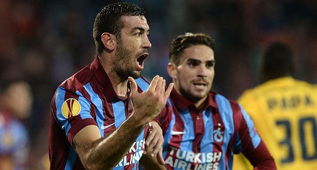 Trabzon'un UEFA'daki 100. golünü attı
